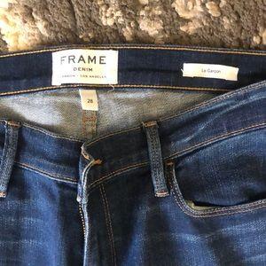 Frame Denim Jeans - FRAME LE GARCON RELEASED-HEM JEAN 28